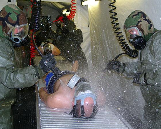 La décontamination des agents chimiques