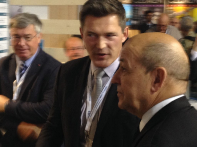 Ludovic Ouvry et Jean-Yves Le Drian