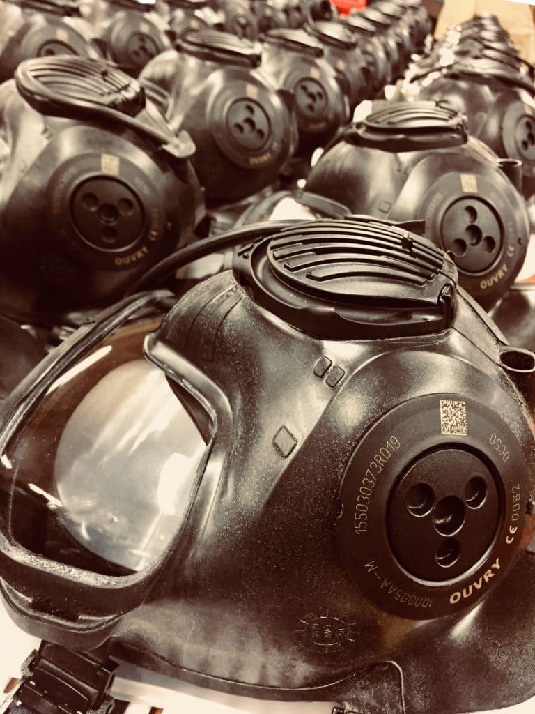 ligne de prod OC50 Ouvry masque NRBC