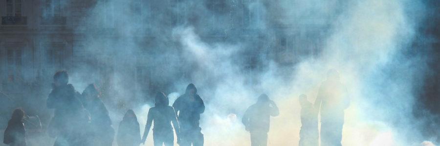 Les gaz lacrymogènes