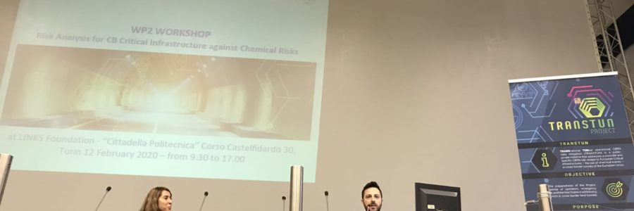 "WORKSHOP ""RISK ANALYSIS FOR CROSS-BORDER CRITICAL INFRASTRUCTURES AGAINST CHEMICAL RISKS"" – TURIN, 12TH OF FEBRUARY"