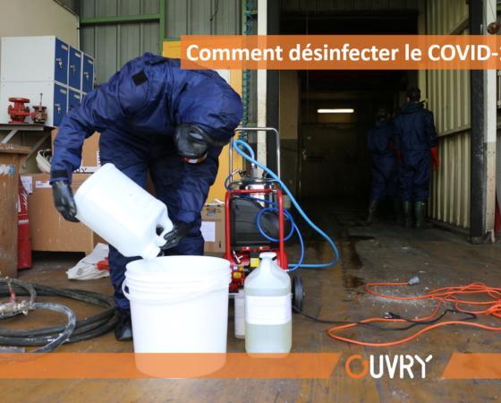 Comment désinfecter le COVID-19 ?